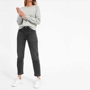 Everlane Relaxed Boy Friend Jean Black Washed 32